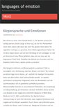 Mobile Preview of languages-of-emotion.de